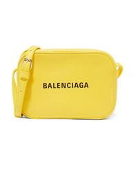 Balenciaga Everyday Printed Textured Leather Camera Bag