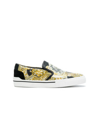 Versace Baroque Printed Slip On Sneakers