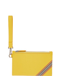 Burberry Yellow Icon Stripe Laurie Zip Pouch