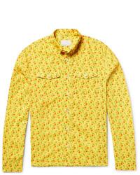 Prada Slim Fit Button Down Collar Printed Cotton Voile Shirt