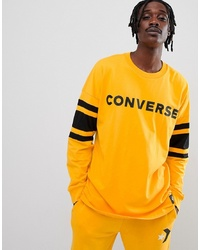 Converse Long Sleeve Hockey Jersey In Yellow 10007099 A03