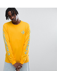 Converse Long Sleeve Top With Arm Print In Yellow At Asos
