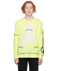Givenchy Yellow Graphic Long Sleeve T Shirt