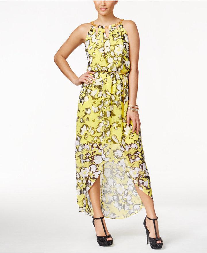 d6b6baa4c3 ... Thalia Sodi Printed High Low Maxi Dress Only At Macys ...