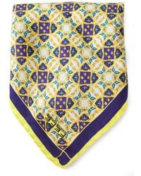 Fef stain glass print pocket square handkerchief medium 254279