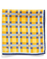 Jz Richards Woven Silk Pocket Square