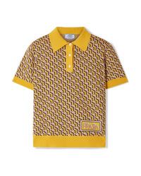 Prada Intarsia Silk Polo Shirt