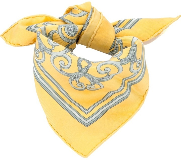 Hermes Herms Vintage Printed Silk Scarf