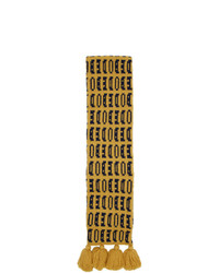 Bode Yellow Signature Scarf