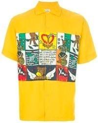 JC de CASTELBAJAC Vintage Printed Short Sleeve Shirt