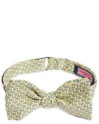 Vineyard Vines Fish Food Print Silk Bow Tie
