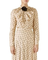 Gucci Rose Collar Stamp Lo Top