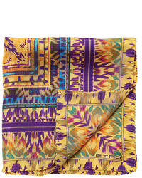 Batik printed silk satin pocket square medium 3675465