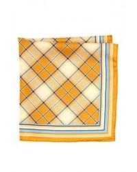Br.Uno Bruno Piatelli Plaid Silk Pocket Square