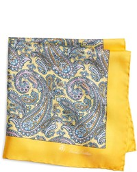 Brooks Brothers Silk Paisley Pocket Square