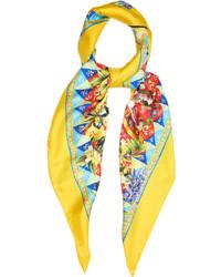 Dolce & Gabbana Carretto Print Silk Scarf