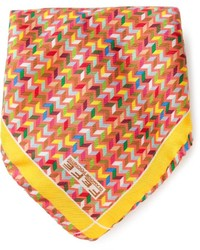 fe-fe Fef Tribal Print Pocket Square Handkerchief