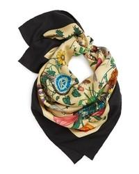 Gucci Foulard Flora Silk Scarf