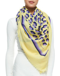Marc Jacobs Geometric Fan Print Scarf Yellowmulti