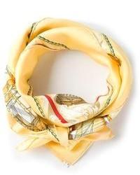 Hermes Herms Vintage Wild Sichlian Silk Scarf