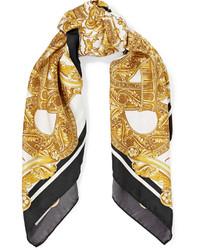 Versace Printed Silk Satin Twill Scarf