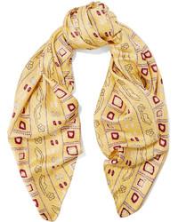 Isabel Marant Printed Silk Satin Twill Scarf