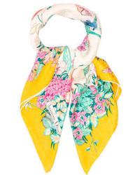 Christian Dior Silk Floral Print Scarf