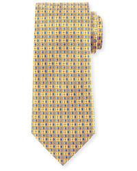 Ermenegildo Zegna Four Petal Floral Printed Silk Tie