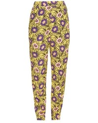 Asticon print high rise straight leg trousers medium 547560