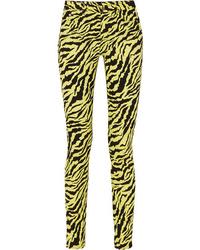 Gucci Tiger Print High Rise Skinny Jeans