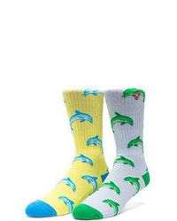 Odd Future Jasper Dolphin Hd Socks In Light Blue Odd Future Jasper Dolphin Hd Socks