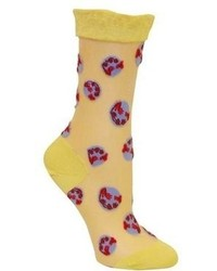 Ozone Design Inc Ozone On The Record Sock Yellow