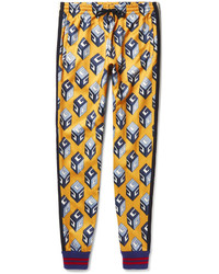 Gucci Tapered Printed Satin Jersey Sweatpants