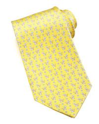 Yellow Print Tie