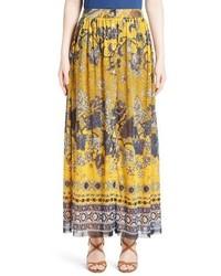 Fuzzi Batik Print Maxi Skirt