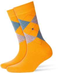 Burlington Printed Virgin Wool Ankle Socks