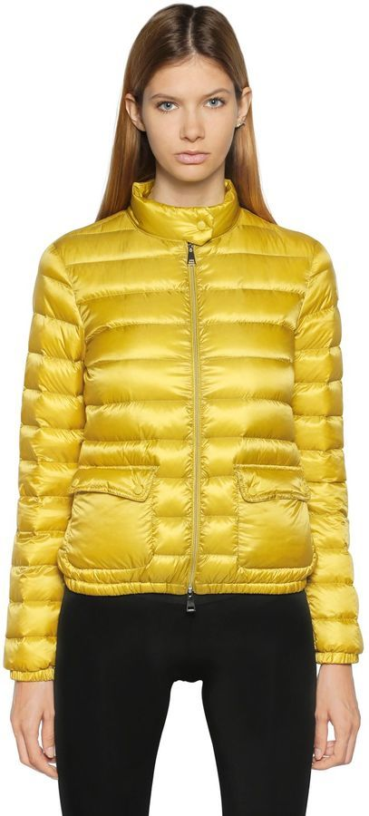 679c63551 $695, Moncler Lans Longue Saison Nylon Down Jacket