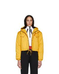 Pyer Moss Yellow Cropped Puffer Jacket