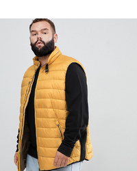 north 56 4 Quilted Gilet Vest In Mustard