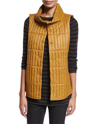 Eileen Fisher Quilted Stand Collar Vest Plus Size