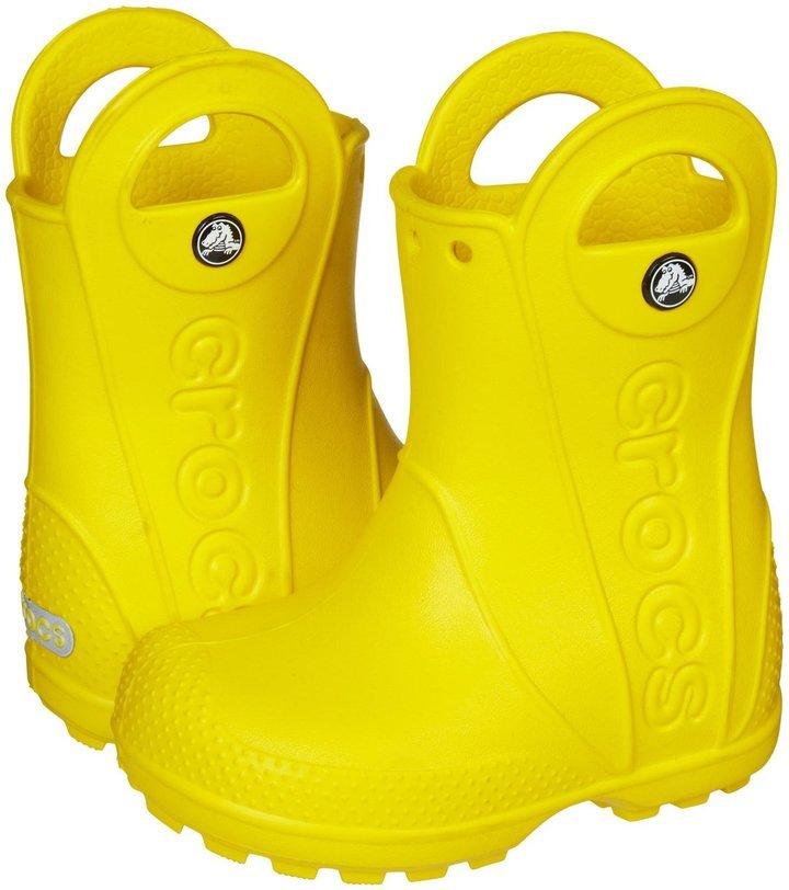 3531da12d0a5bb ... Crocs Handle It Rain Boot Kids Yellow 2 Youth ...