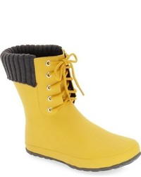Lace up weatherproof rain boot medium 801361