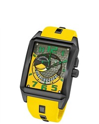 Stuhrling Original Mad Man Complex Yellow Rubber Strap Watch