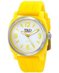 Tko Orlogi Unisex Tk561 Yl Milano Jr Yellow Plastic Watch With Textured Rubber Strap