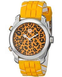 Brillier Unisex 1304 01 Buzz Analog Digital Reversible Display Watch With Rubber Strap