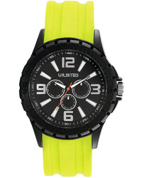 Unlisted Watch Yellow Rubber Strap 47mm Ul1242