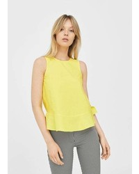 Mango Ruffled Hem Top