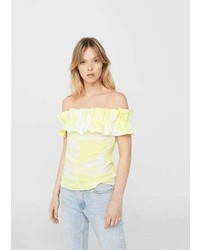 Mango Ruffled Tie Dye Top