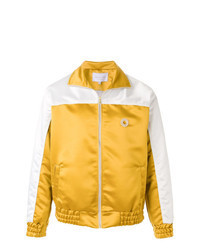 Yellow Satin Bomber Jacket