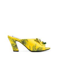 N°21 N21 Floral Print Embellished Mules